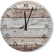 Round Wood Wall Clock Home Decor,Reclaimed Wood