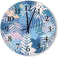 Round Wood Wall Clock with Arabic Numerals Whisper