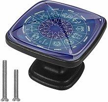 Round Zodiac Wheel [4 PCS]Decorative Cabinet