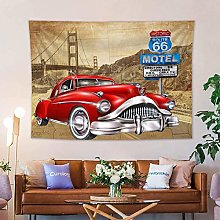 Route 66 Tapestry Wall Hanging Journey on The Road