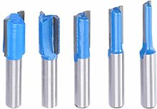 Router Bit Set 5Pcs 8Mm Shank Straight Milling