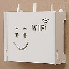 Router Storage Box, Wall-Mounted WiFi Rack, Cable