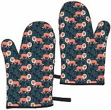 rouxf Safari Ion Nursery Baby Linocut Animals Navy