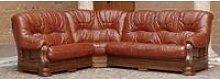 Rovira Italian Leather Corner Sofa Settee