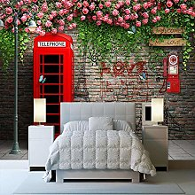 Rovovom® 3D Modern London Red Phone Booth Rose