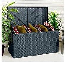 Rowlinson Anthracite Outdoor Metal Storage Deck