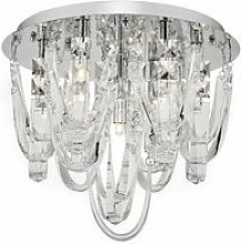 Roxanne ceiling light crystal and polished chrome