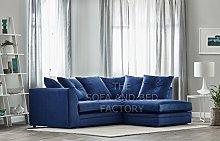Roxie Plush Velvet 3 Seater Fabric Corner Sofa