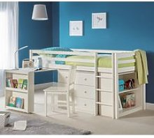 Roxy Sleepstation Bunk Bed In Stone White Lacquer