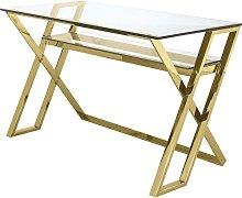 Roy Desk Canora Grey Colour: Golden