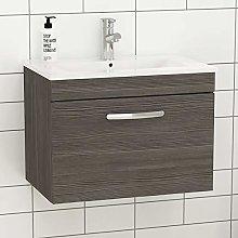 Royal Bathrooms.co.uk Turin Grey Elm Wall Hung 1