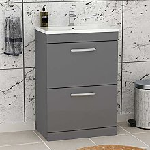 Royal Bathrooms.co.uk Turin Indigo Grey Gloss