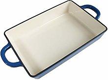 Royal blue cast iron uncoated enamel pan,