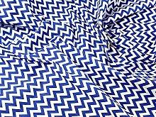 Royal Blue / White - 1 Meter | 6mm CHEVRON Printed