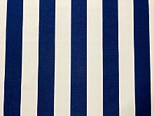 Royal Blue & White Striped DRALON Outdoor Fabric