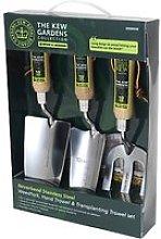 Royal Botanic Gardens, Kew 3-Piece Gardening Tool Gift Set, Stainless Steel