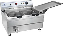 Royal Catering Double pastries deep fat fryer - 33