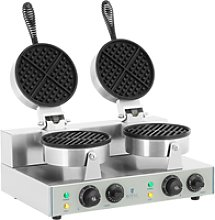 Royal Catering Double Waffle Maker - 2 x 1300