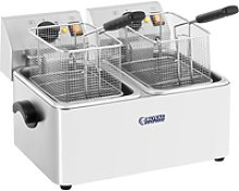 Royal Catering Electric Deep Fat Fryer - 2 x 8