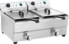 Royal Catering Electric Deep Fryer - 2 x 16 Litres