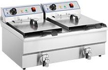 Royal Catering Electrical fryer - 2 x 16 L - 400 V