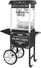 Royal Catering Popcorn Maker with trolley - Black