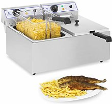 Royal Catering RCEF 15E Electric Deep Fryer Dual