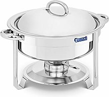 Royal Catering Round Chafing Dish 5.2L Stainless
