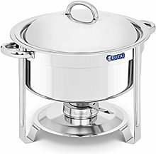 Royal Catering Round Chafing Dish7.6L Stainless