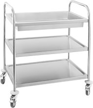 Royal Catering Serving trolley - 2 shelves RCGW 1