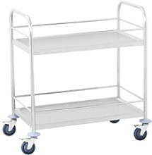 Royal Catering Serving Trolley - 2 Trays - 50 kg