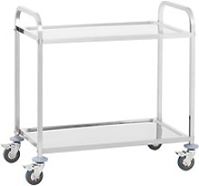 Royal Catering Serving Trolley - 2 Trays - up to