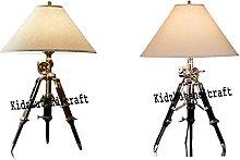 Royal Designer Desk Lamp Black & Brown Tripod