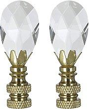 Royal Designs Teardrop Crystal Lamp Finial for