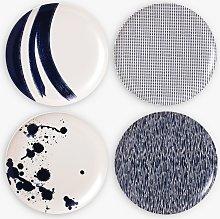 Royal Doulton Pacific Melamine Dinner Plate, Set of 4, Blue