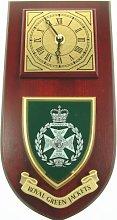 Royal Green Jackets Wall / Mess Clock
