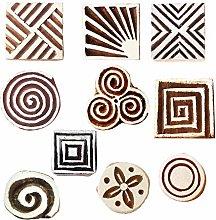 Royal Kraft Geometric Wooden Printing Stamps (Set
