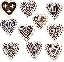 Royal Kraft Heart Wooden Printing Stamps (Set of