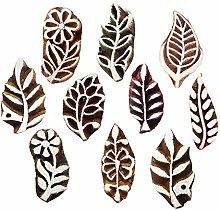 Royal Kraft Leaf Wooden Printing Stamps (Set of