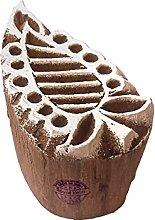 Royal Kraft Paisley Wooden Printing Block Stamp -