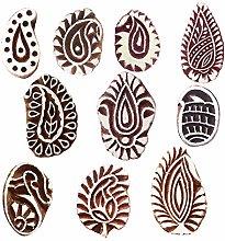 Royal Kraft Paisley Wooden Printing Stamps (Set of
