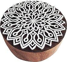 Royal Kraft Round Wooden Printing Block Stamp -