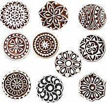 Royal Kraft Round Wooden Printing Stamps (Set of