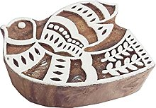 Royal Kraft Sparrow Wooden Printing Block Stamp -