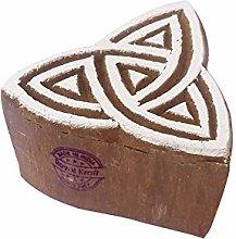 Royal Kraft Star Wooden Star Printing Block Stamp