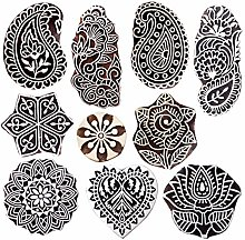 Royal Kraft Wooden Stamps for Block Printing on
