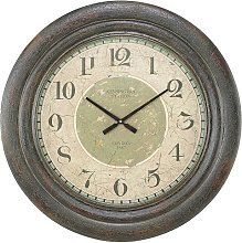 Royal Round Wall Clock In Brown And Green