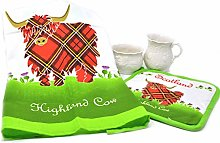 Royal Tara Scottish Cotton Tea Towel and Pot