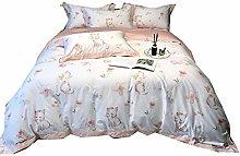 RoyalLinens 100% Cotton 4 Pieces Girls Fresh Color