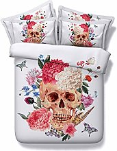 RoyalLinens 3 piece sugar skull and flowers bed